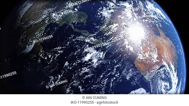 Southeast Asia and Australia from space