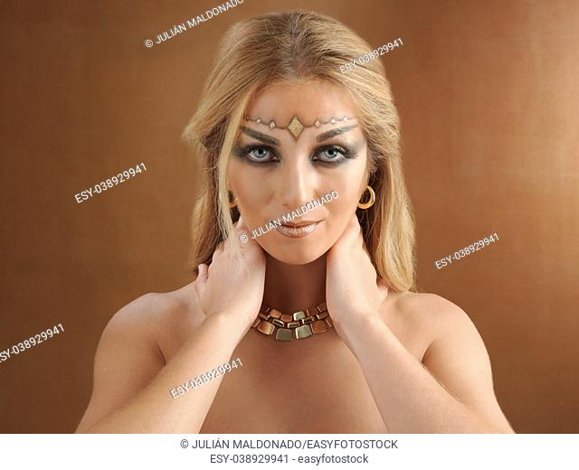 Woman with fantasy makeup