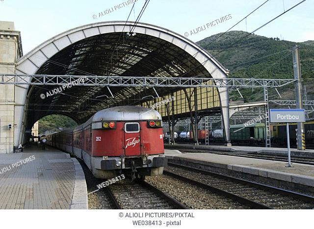 Train station, Portbou. Girona province, Catalonia, Spain