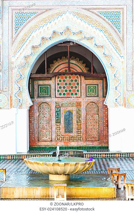 in morocco africa old antique construction mousque palace