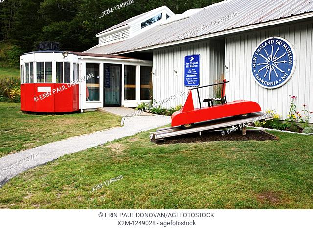 Franconia Notch State Park - New England Ski Museum at the base of Cannon Mountain in the White Mountains, New Hampshire USA