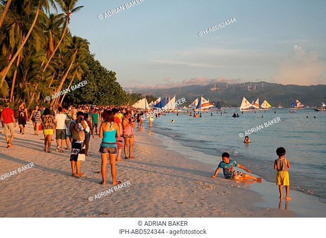 Philippines Boracay White Beach one of the best beaches in the world