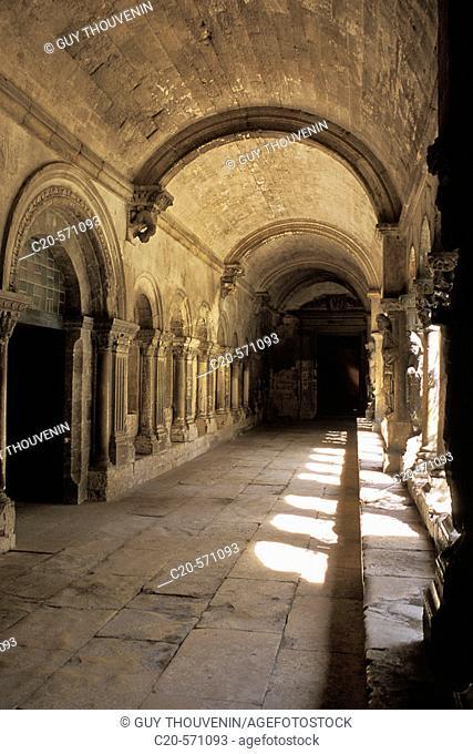 Saint Trophime church cloister. Arles. Bouches-du-Rhône. Provence. France