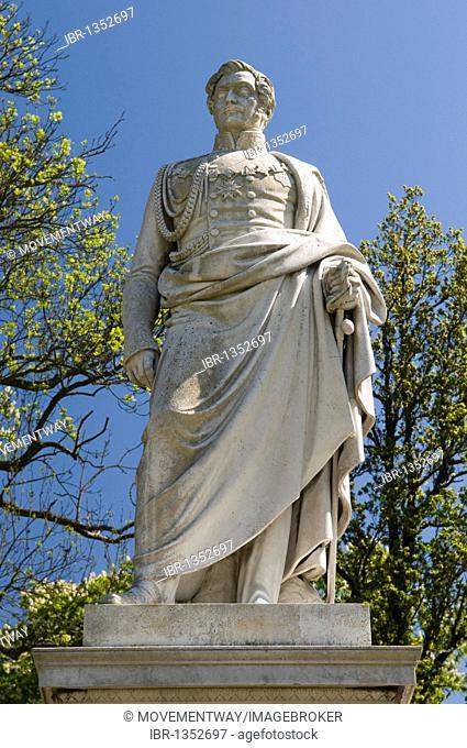 Malte monument in the castle gardens of Putbus, Ruegen island, Mecklenburg-Western Pomerania, Germany, Europe