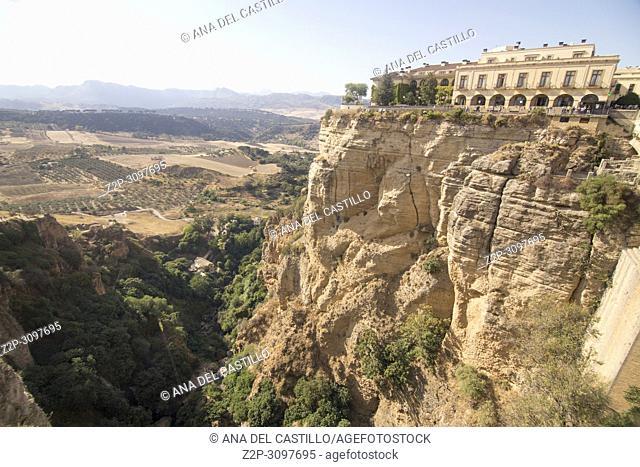 Ronda Bridge Malaga province Andalusia Spain
