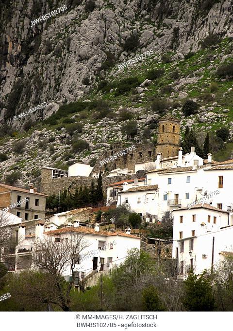 white village Villaluenga del Rosario, Sierra de Grazalema, Spain, Andalusia