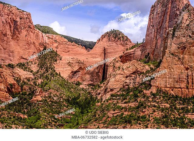 The USA, Utah, Washington county, Springdale, Zion National Park, Kolob canyons