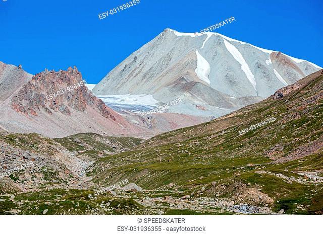 Bald-headed mountain in Tien Shan. Kyrgyzstan