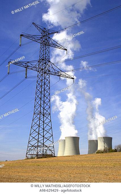 Nuclear power station. Temelin. District of Budweis. South Bohemia. Czech Republic