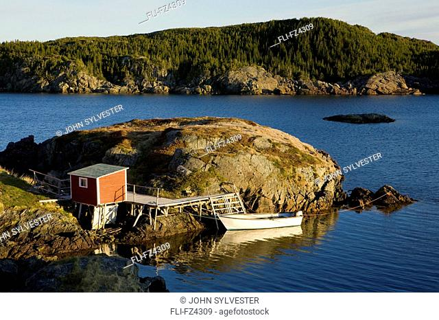 Shed and pier, Change Islands, Newfoundland and Labrador