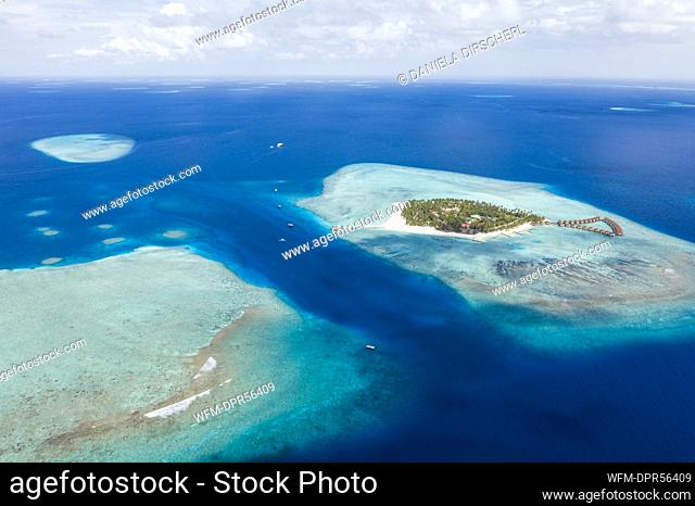 Vacation Island Alimatha, Felidhu Atoll, Indian Ocean, Maldives