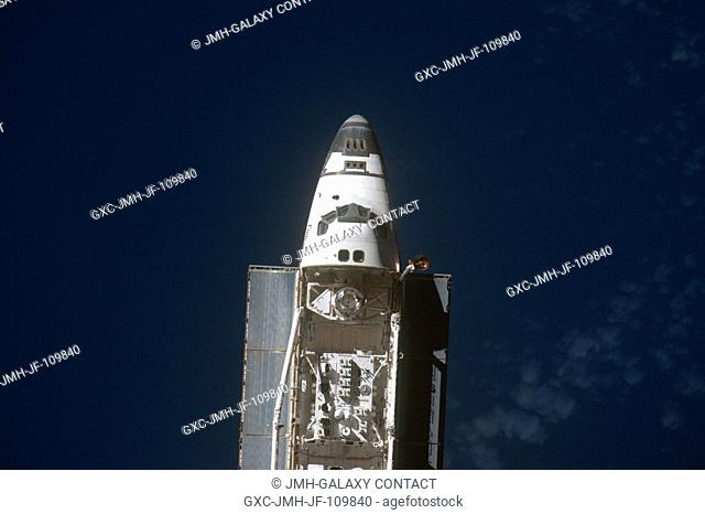 This view of the Space Shuttle Endeavour was provided by an Expedition 20 crewmember during a survey of the approaching vehicle prior to docking with the...