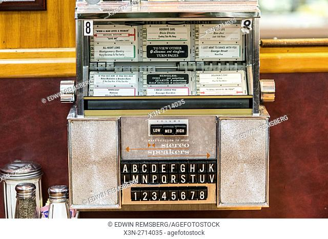 Jukebox at a diner in Maryland