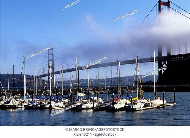 Golden Gate Bridge, San Francisco, view from Sausalito