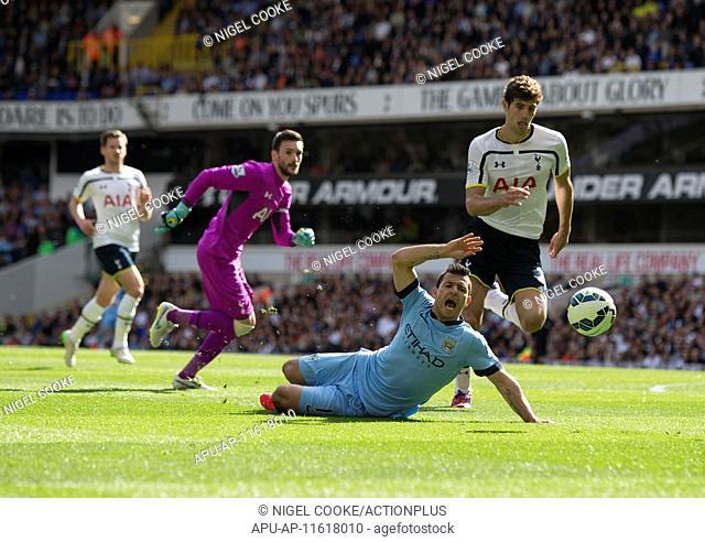 2015 Barclays Premier League Tottenham Hotspur v Man City May 3rd. 03.05.2015. London, England. Barclays Premier League. Tottenham Hotspur versus Manchester...
