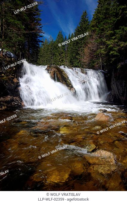 Valley of the River Labe, Spindleruv Mlyn, Krkonose National Park, Giant Mountains, the Northern Bohemia, Czech Republic