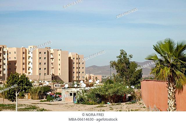 Settlement, houses, scenery, Morocco