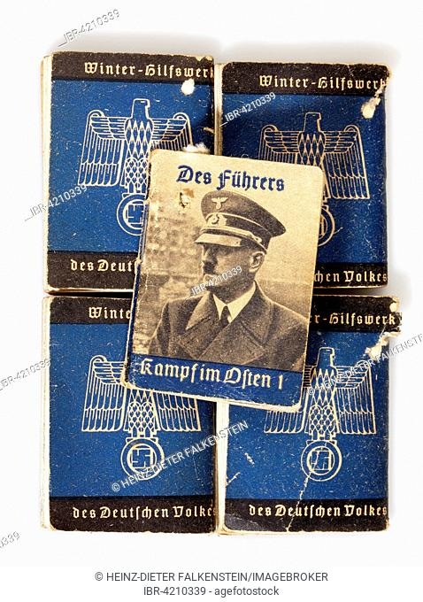 Nazi propaganda in Nazi Germany, issues of the winter relief action Winterhilfswerk, 1939, Deutsches Reich, Germany