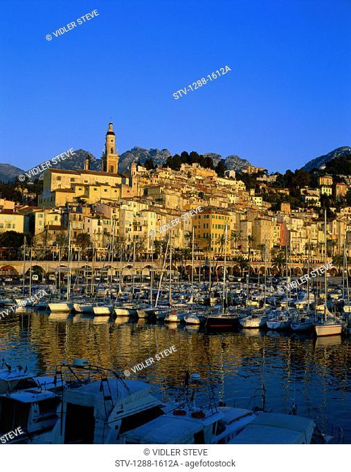Boats, Coast, Coastal, France, Europe, Harbor, Holiday, Landmark, Menton, Port, Tourism, Travel, Vacation, Vertical, World trave