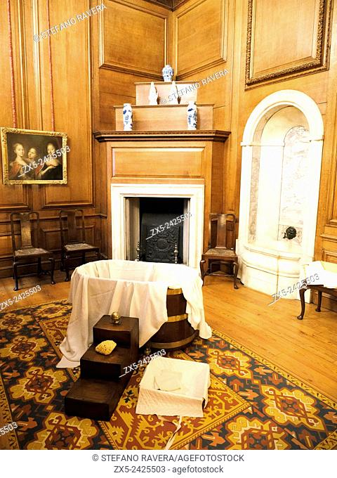 Private dressing room of Caroline of Ansbach wife of George II king of England - Hampton Court Palace - England