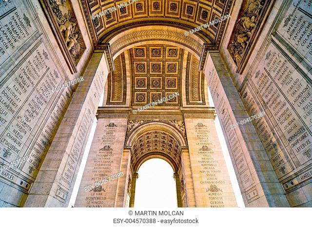 Arc de Triomphe view from below