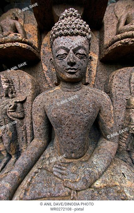Statue of Buddha in heritage Buddha excavated site , Ratnagiri , Orissa , India