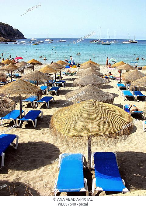 Sant Elm beach, Andraitx. Majorca, Balearic Islands. Spain