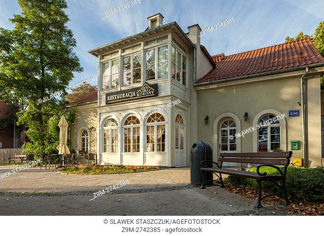Historic restaurant building in Wejherowo, Poland