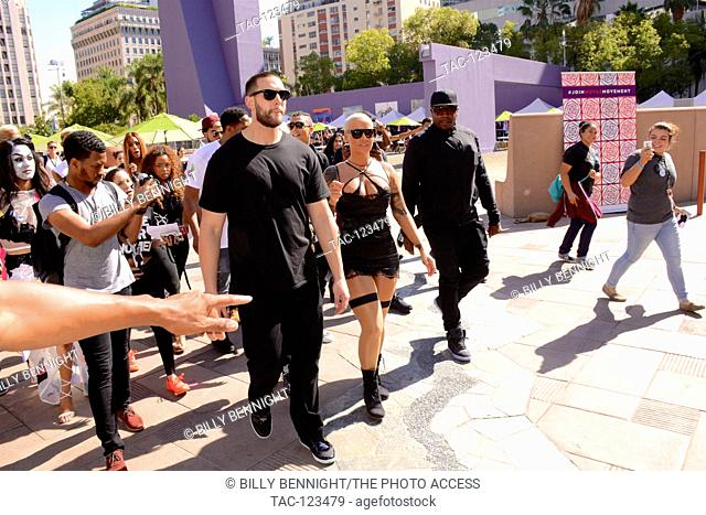 Amber Rose aka Amber Levonchuck attends the Amber Rose SlutWalk LA at Pershing Square on October 3, 2015 in Los Angeles, California