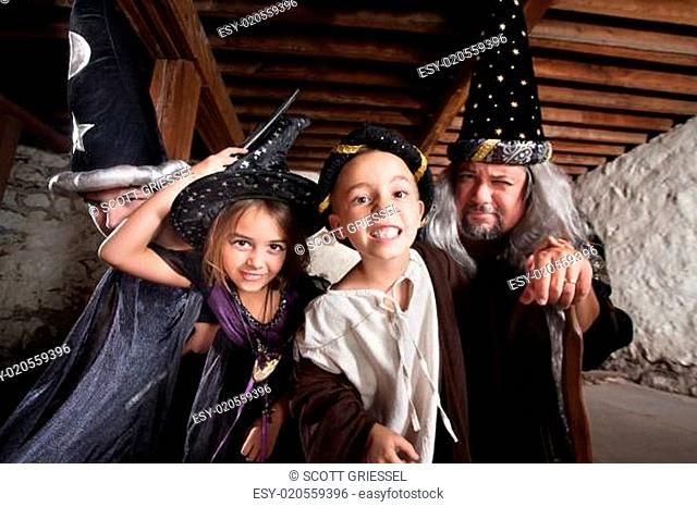 Family of Four Sorcerers