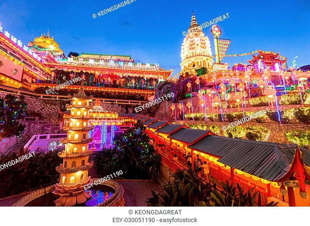 Kek Lok Si Temple Light Up, Penang Malaysia