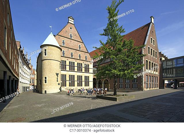 Muenster (Westfalen), D-Muenster, Westphalia, Muensterland, North Rhine-Westphalia, NRW, Historical City Hall of Muenster at the Prinzipal Market Place