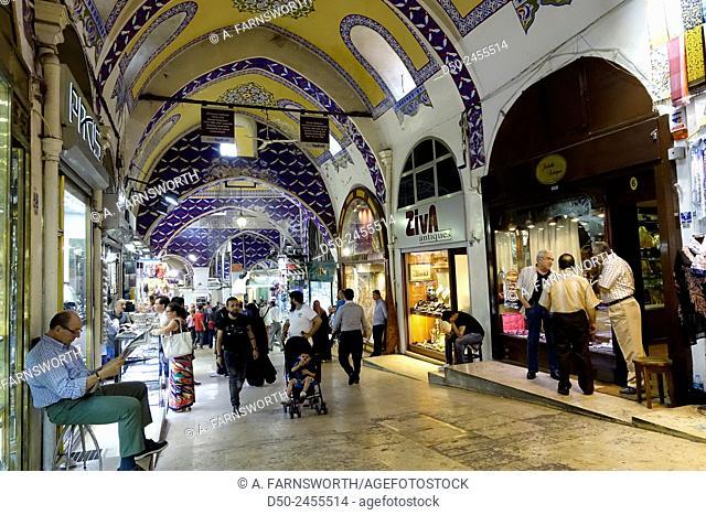 Scene in the Grand Bazaar, Istanbul, Turkey