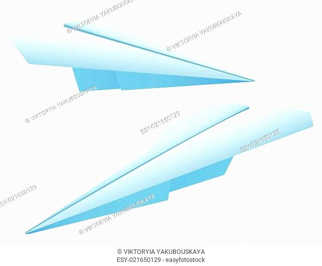 Two paper planes