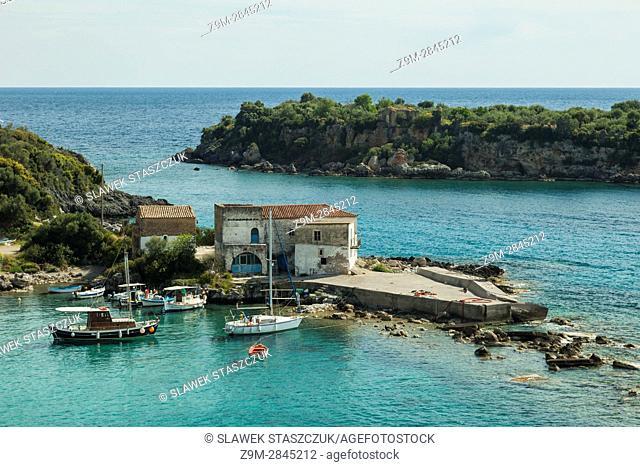 Spring afternoon on the bay near Kardamili, Messenia, Peloponnese, Greece