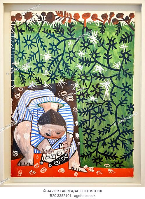 """""""Enfant jouant avec un camion"""", 1953, Pablo Picasso, Picasso Museum, Paris, France, Europe"""