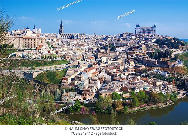 Beautiful view of historical Toledo, Spain, Europe
