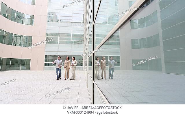Executives walking and looking office building, Business, San Sebastian Technology Park, Donostia, San Sebastian, Gipuzkoa, Basque Country, Spain