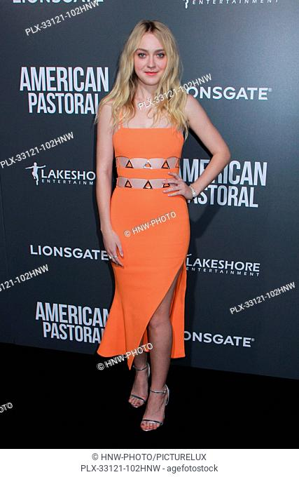 Dakota Fanning 10/13/2016 The Los Angeles Special Screening of American Pastoral held at the Academy's Samuel Goldwyn Theater in Beverly Hills