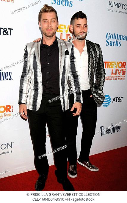 Lance Bass, Michael Turchin at arrivals for The Trevor Project Presents TrevorLIVE LA 2016 Fundraiser, The Beverly Hilton Hotel, Beverly Hills, CA December 4
