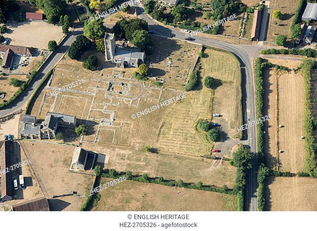 Ruined remains of Muchelney Abbey, Somerset, 2018. Creator: Historic England Staff Photographer