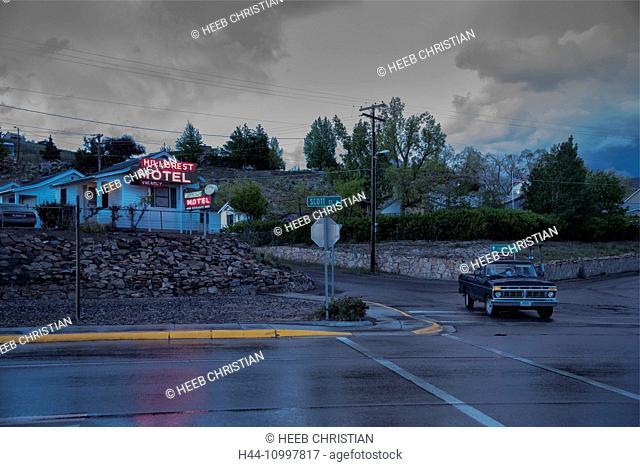 USA, Rocky Mountains, Montana, Gardiner, night, Gardiner II