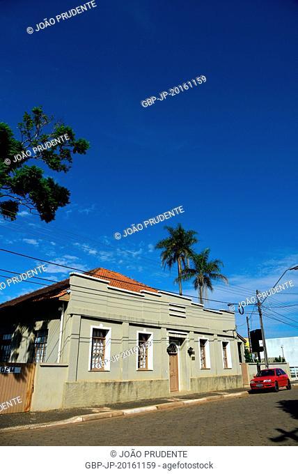 Old house located in Piazza Leopoldo Mercer in the city center, Tibagi, Paraná, Brazil 12.2014