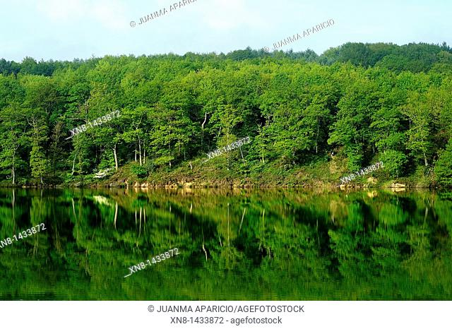 Urrunaga Reservoir in the town of Legutiano, Alava, Basque Country, Spain