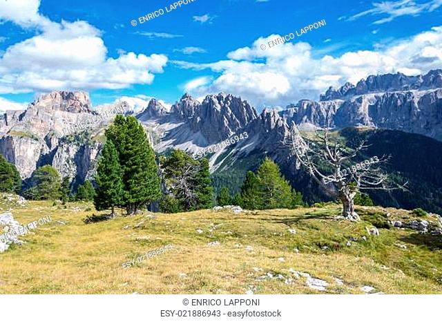 Italian Alps in Val Badia, Natural Park of Puez-Odle