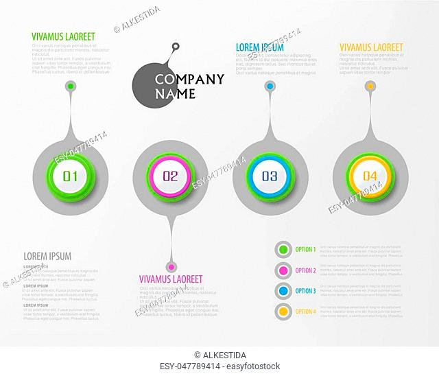 Vector abstract element for business. Strategy in stages. Steps of development, teamwork. Business concept illustrated in four stages, parts, steps