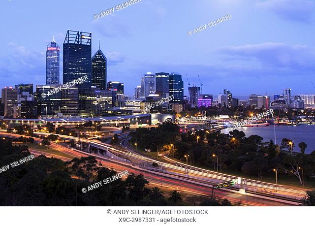 The City of Perth at Dusk, Australia