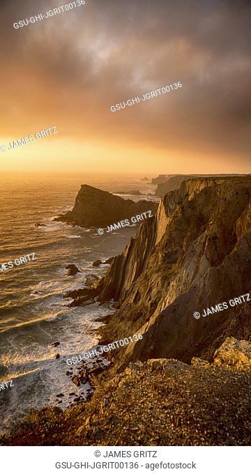 Rocky Coast at Sunset, Arrifana, Portugal