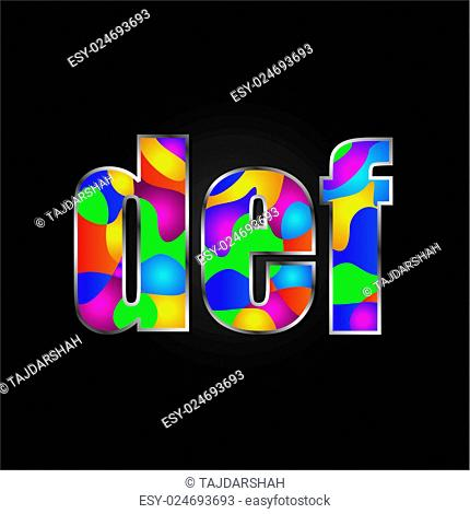 Colorful Alphabet vector illustration
