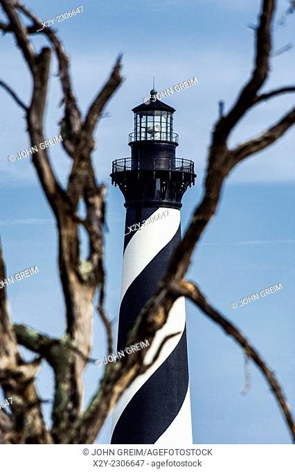 Cape Hatteras lighthouse, Outer Banks, North Carolina, USA